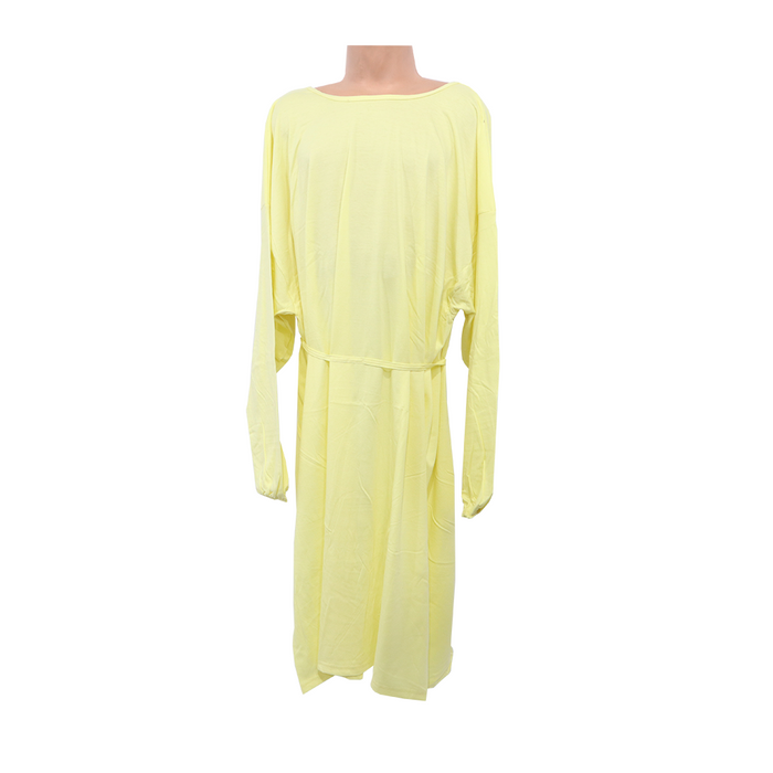 SMS Elastic Cuff Isolation Gown Yellow-Fabric