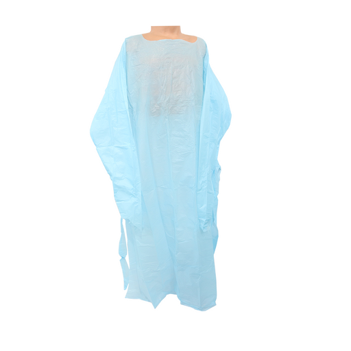 CPE Thumbloop Isolation Gown Blue 15 Units/Bag