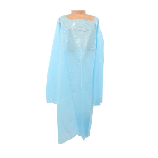 CPE Thumbloop Isolation Gown Blue XL 15 Units/Bag