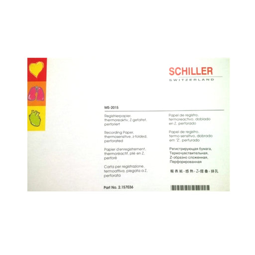 Schiller Pack of Chart Paper for MS-2015