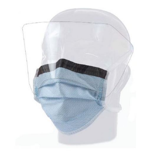 Precept Fluidgard 160 Anti-Fog Level 3 Surgical Mask w/ Anti-Glare Shield 25 Masks/Bx