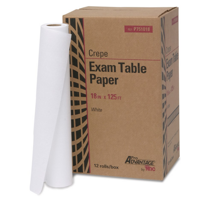 Pro Advantage Crepe: Exam Table Paper 18 in x 125 FT