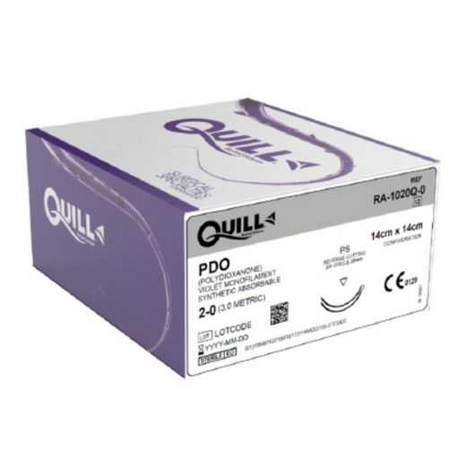 Quill Barbed Suture RA-1020Q-0 PDD Polydioxanone Violet Monofilament Synthetic Absorbable 2-0