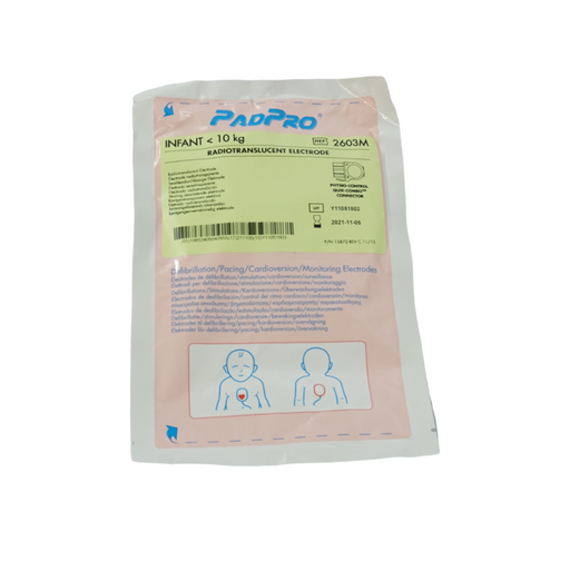 Radiotranslucent Electrode for Infant <10Kg PadPro	2603M - 6 Packs