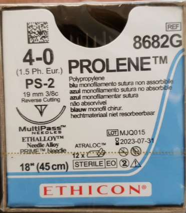 PROLENE® Polypropylene Suture 4-0 (1.5 Ph. Eur.)| Bx/12 Packets | 8682G