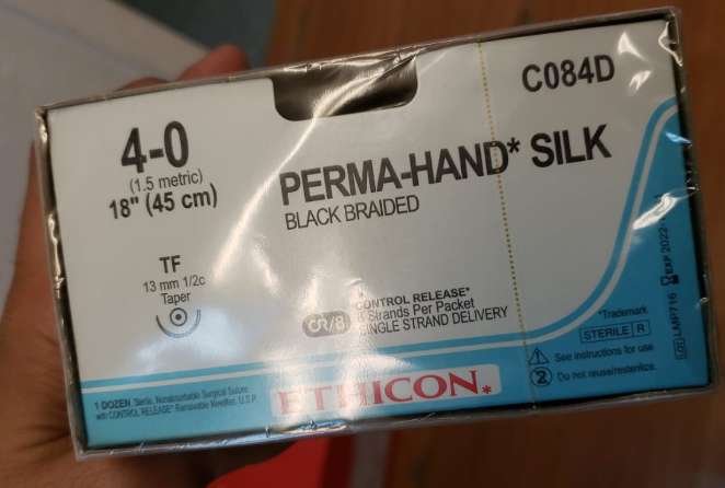 PERMAHAND® Silk Suture 4-0 (1.5 Metric) - 12 PACKETS/BOX - C084D