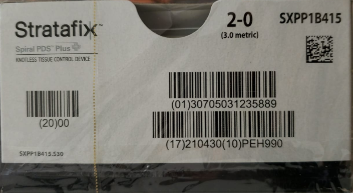 STRATAFIX™ Spiral PDS Plus Suture 2-0 (3.0 Metric) | Bx/12 Packets | SXPP1B415