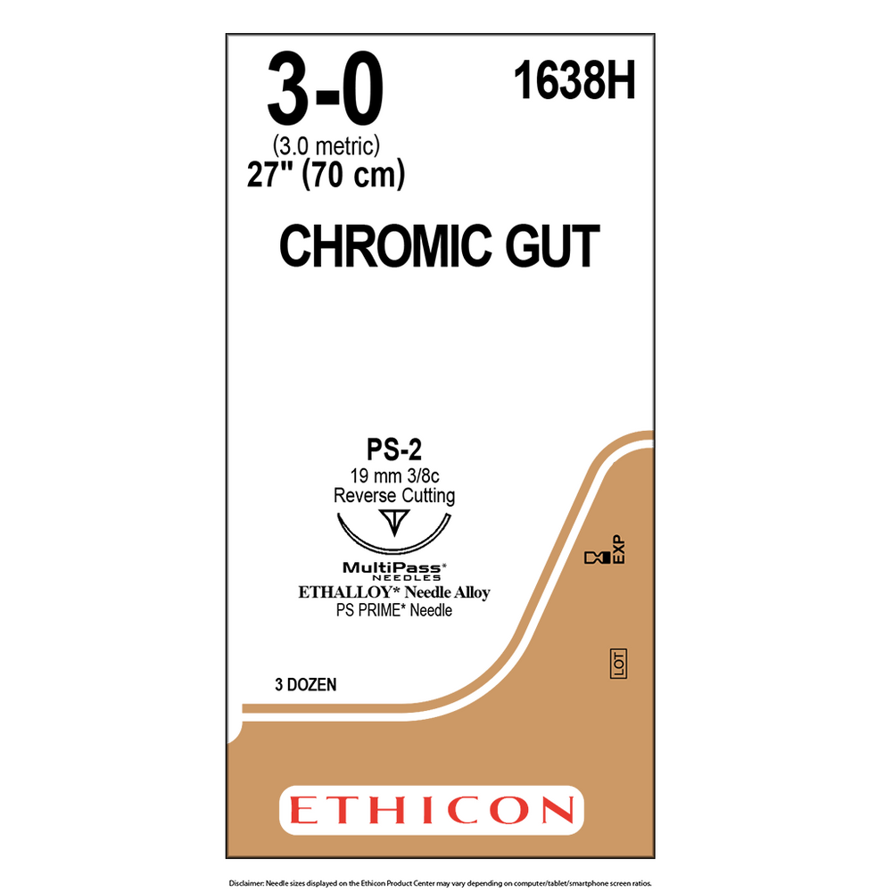 Surgical Gut Suture - Chromic - 3-0