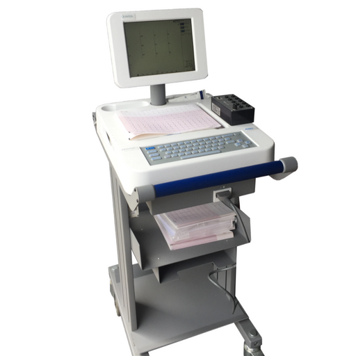 Quinton Mortara Burdick Premier Eclipse ECG W/ Monitor Cart