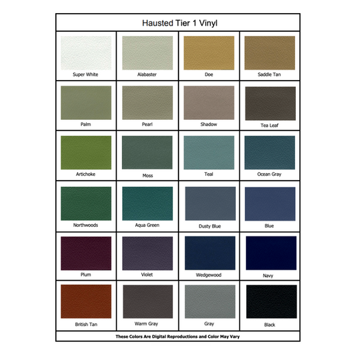 Hausted Upholstery colors for medical tables
