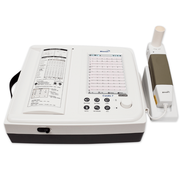 ECG with Spirometry by Bionet model Cardio7-S  with printer