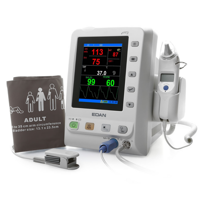 Edan M3 Vital Sign Monitor: NIBP, SpO2 & TEMP