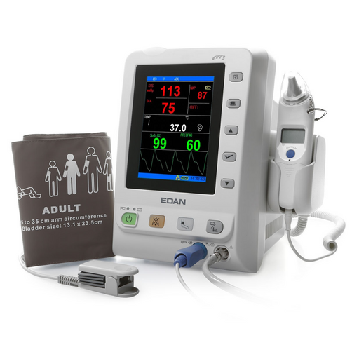 Edan M3 Vital Sign Monitor: NIBP, SpO2 & COVIDIAN ORAL TEMP