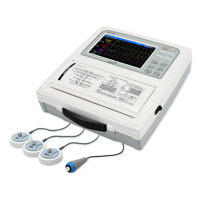 FC1400 Antepartum Touch Screen Fetal Monitor for Twins Fetuses