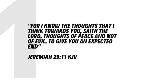 top 5 bible verses Jeremiah 29:11 KJV