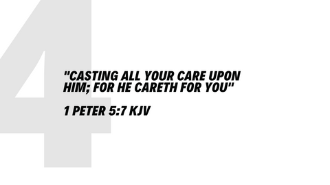 Top 5 bible verses 1 Peter 5:7 KJV