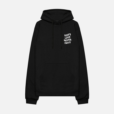 gtf hoodie GOD'S LOVE NEVER FAILS
