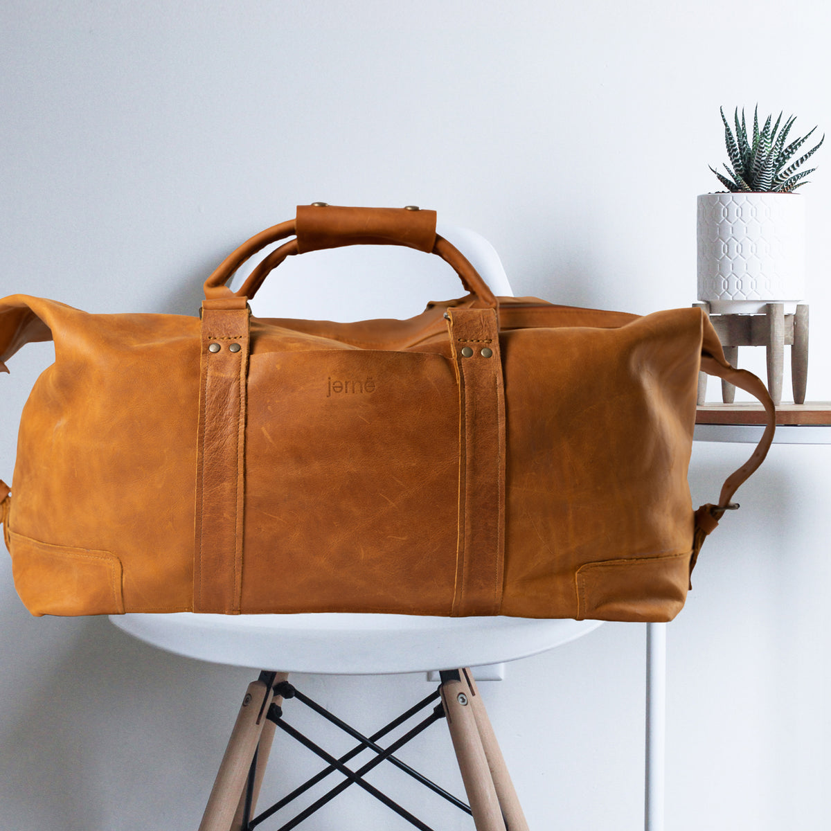 Atlantic Weekender Leather Bag