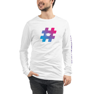 White w/ Logo Unisex Long Sleeve Tee