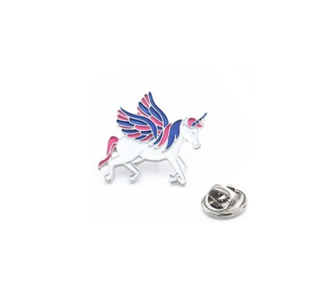 Blue&Pink Unicorn Lapel Pin