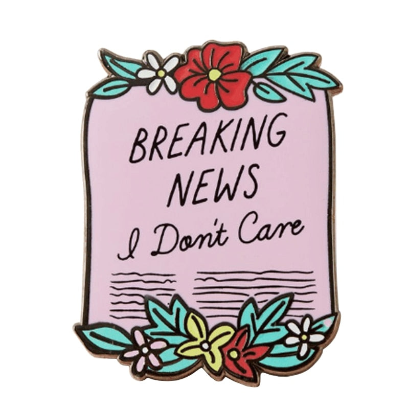 Breaking News Enamel pin