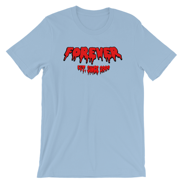 "LIGHT BLUE FOREVER TEE SS - ""RED"""