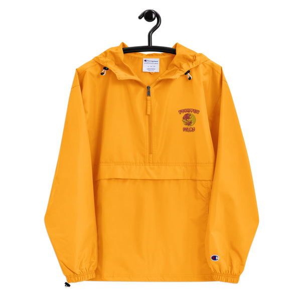 FOREVER FILMS WORLD YELLOW Embroidered Champion Windbreaker