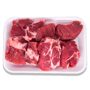 Fresh Beef Cubes Bone-In Local - 250 grams