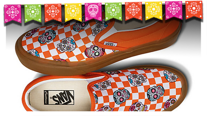 Vans Releases Custom Sugar Skull Checkerboard Slip-On
