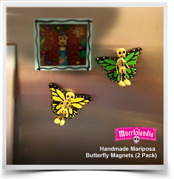 Handmade Mariposa Butterfly Magnets (2 Pack)