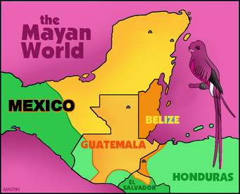 The Mayan World Map