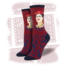 "Load image into Gallery viewer, Women's Frida Kahlo ""Fearless Frida"" Socks"