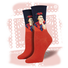 "Load image into Gallery viewer, Women's Frida Kahlo ""Pensive Frida"" Socks"