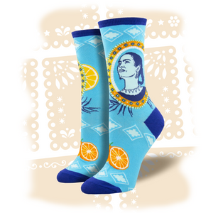 "Women's Frida Kahlo ""Naranja"" Socks"