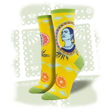 "Load image into Gallery viewer, Women's Frida Kahlo ""Naranja"" Socks"