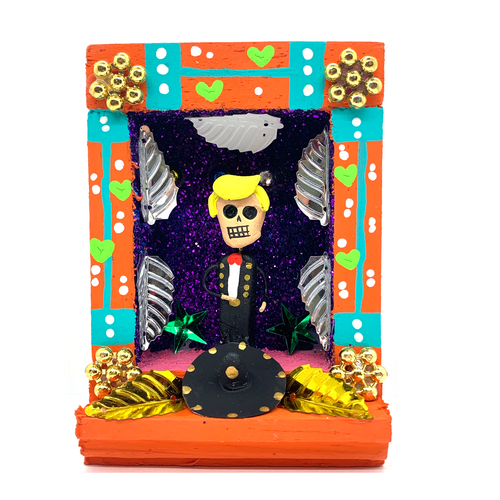Handmade Shadow Box Nicho - Feo, You're Fired!