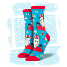 "Load image into Gallery viewer, Women's Frida Kahlo ""Portrait"" Socks"