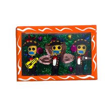 Load image into Gallery viewer, Handmade Shadow Box Nicho - Tres Mariachi Cubrebocas