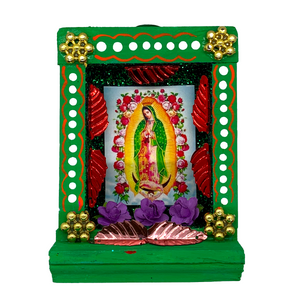 Handmade Shadow Box Nicho - Virgen de Guadalupe