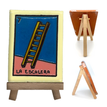 Load image into Gallery viewer, Handmade Clay Loteria Tile and Stand