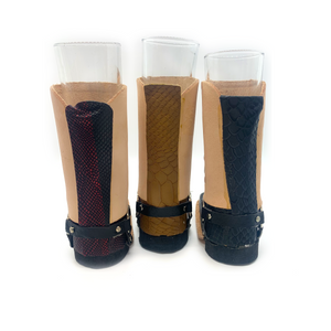 Handmade Mexican Leather Mini-Boot Shot Glass Gift Set (3-Pack)