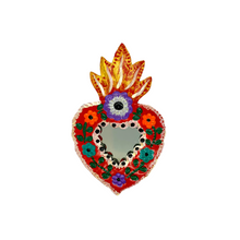 Load image into Gallery viewer, Handmade Tin Mexican Heart Mirror