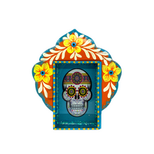 Load image into Gallery viewer, Calavera Tin Nicho With Glass Door