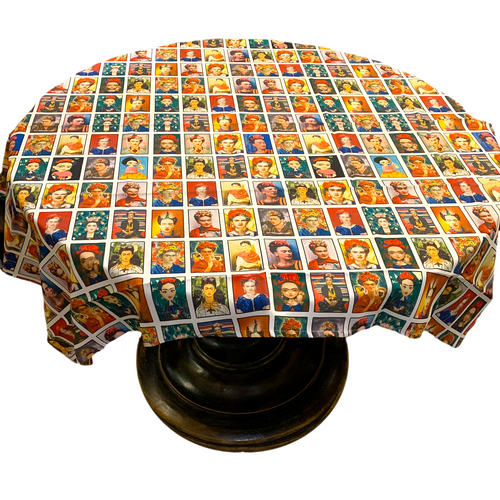 Frida Mexican Lotería Design Tablecloth