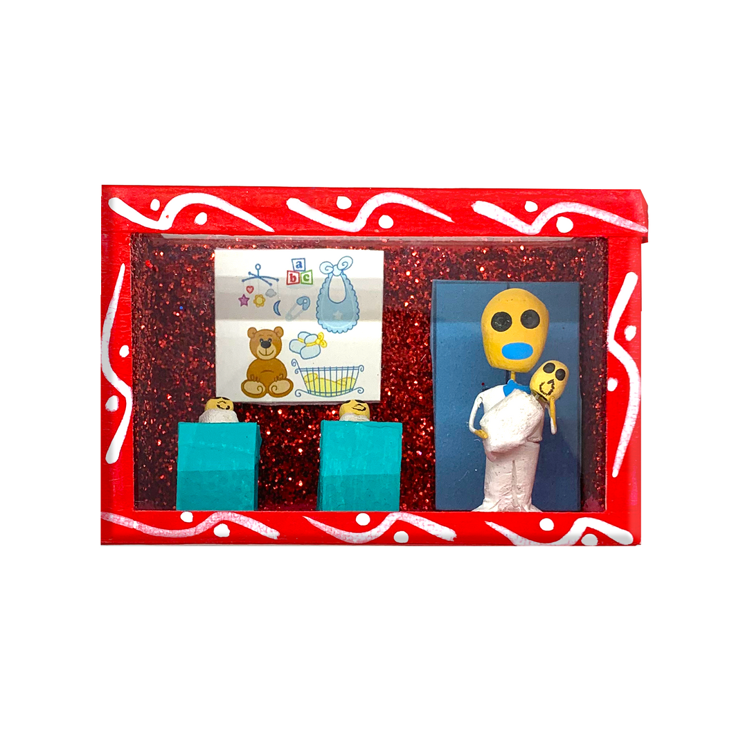 Handmade Shadow Box Nicho - Recien Nacidos (Baby)