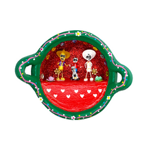 Load image into Gallery viewer, Handmade Mexican Cazuela Art - Coco