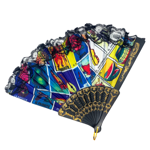 Lotería Design Folding Fan