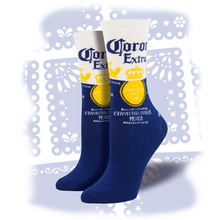 "Load image into Gallery viewer, Women's ""Corona Cerveza Beer"" Socks"