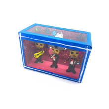 Load image into Gallery viewer, Handmade Window Shadow Box Niche  - Tres Mariachis
