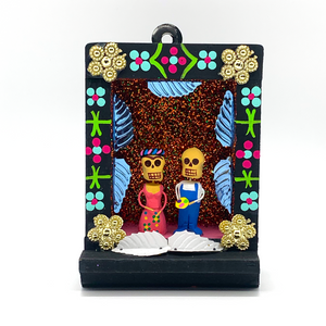 Handmade Shadow Box Niche - Frida & Diego